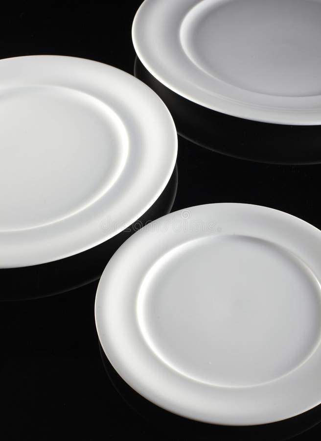 tom white för platta tre arkivfoto