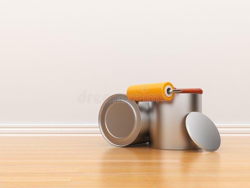 tom white för vägg för renovering för husmålning vektor illustrationer
