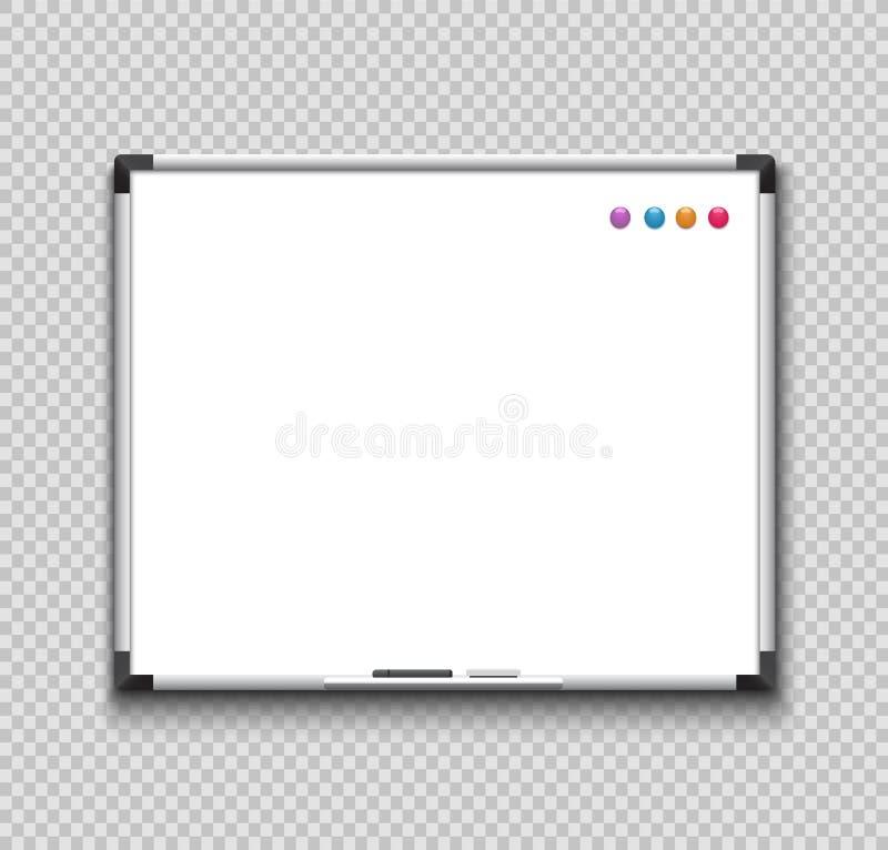 tom whiteboard royaltyfri illustrationer