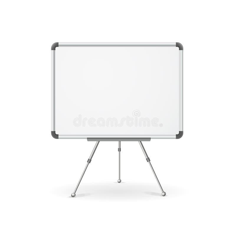Tom whiteboard för vektor stock illustrationer
