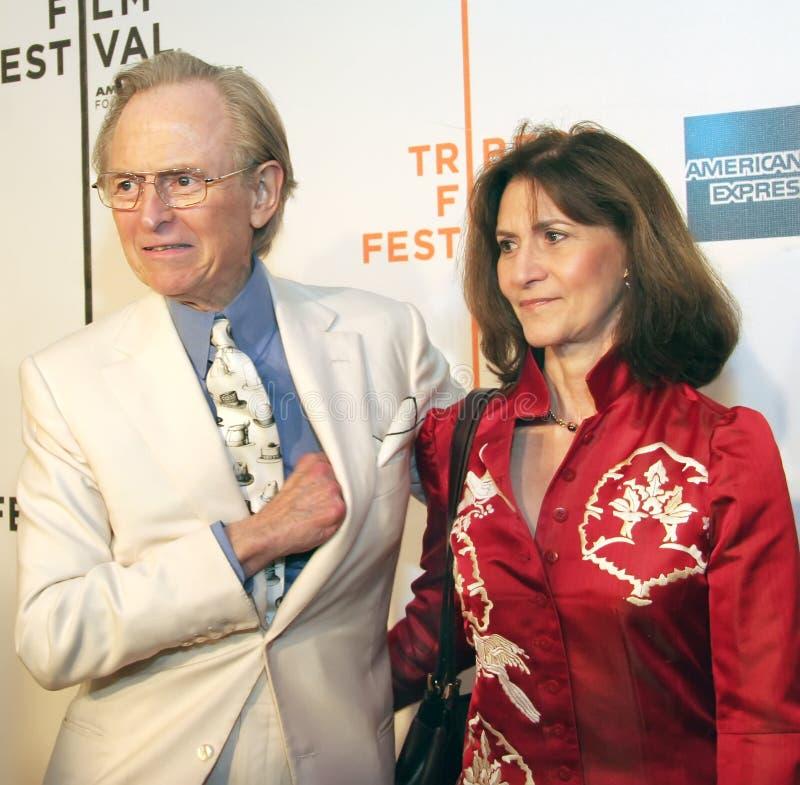 Tom Wolfe e Sheila Wolfe fotografia de stock