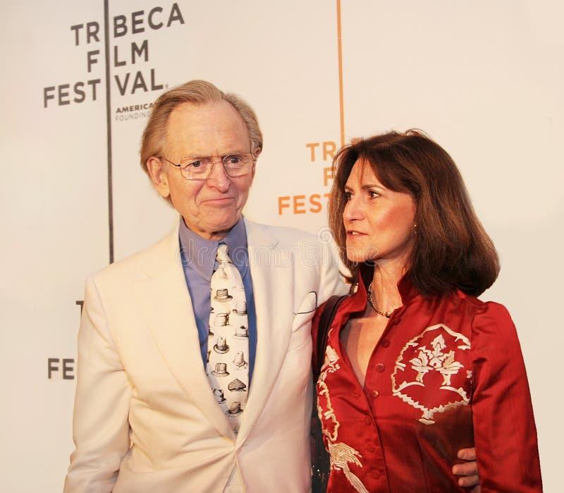 Tom Wolfe y Sheila Wolfe imagen de archivo libre de regalías