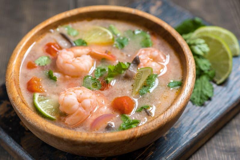Tom yam kong soup. Thai food. stock photos