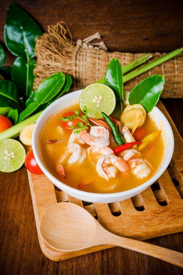 Tom yam kong or Tom yum soup. Thai food. stock photography