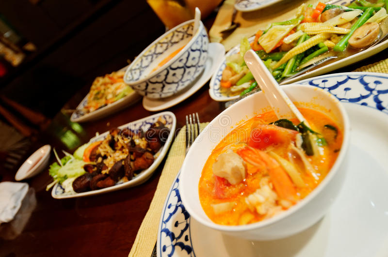 Download Tom yam kung stock image. Image of setting, clear, food - 26566373