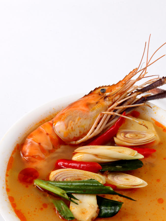 Free Tom Yam Kung. Spicy Shrimp Soup Royalty Free Stock Photos - 14066278