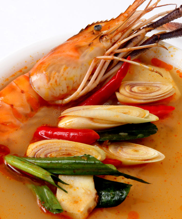 Free Tom Yam Kung. Spicy Shrimp Soup Stock Photography - 14066292