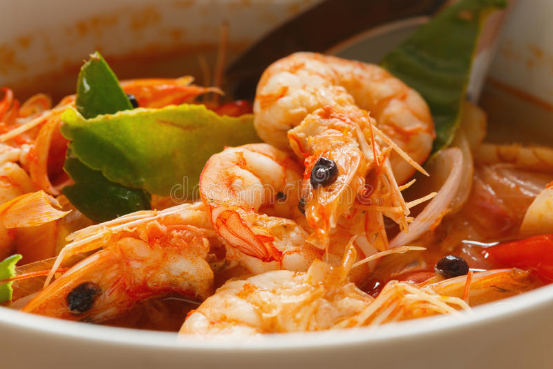 Tom Yam Kung, Thailand food stock image