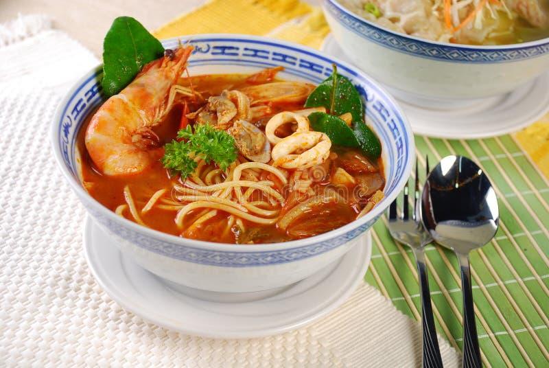 Tom yam noodles stock photos