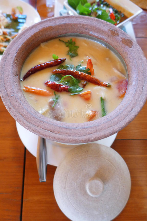 Tom yam soup, Ethnic thai dish stock images