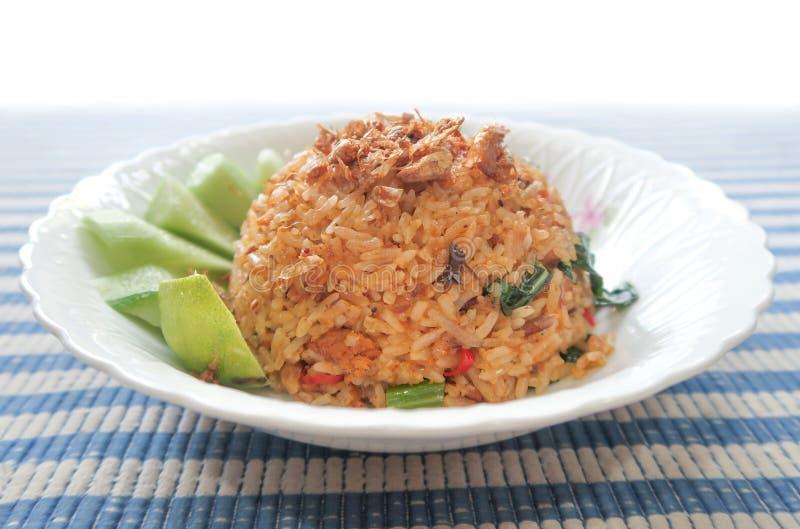 Tom yum fried rice, Thai food. Closeup royalty free stock photos
