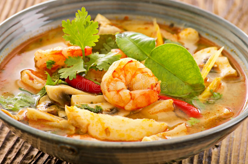 Tom yum polewka fotografia royalty free