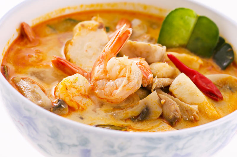 Tom yum soup stock images