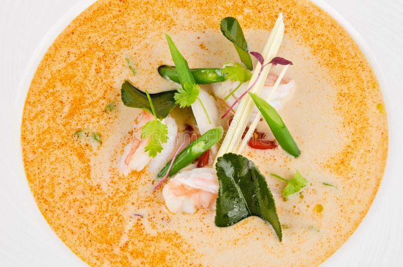 Tom Yum soup thai food traditional cuisine with ingredient royalty free stock photos