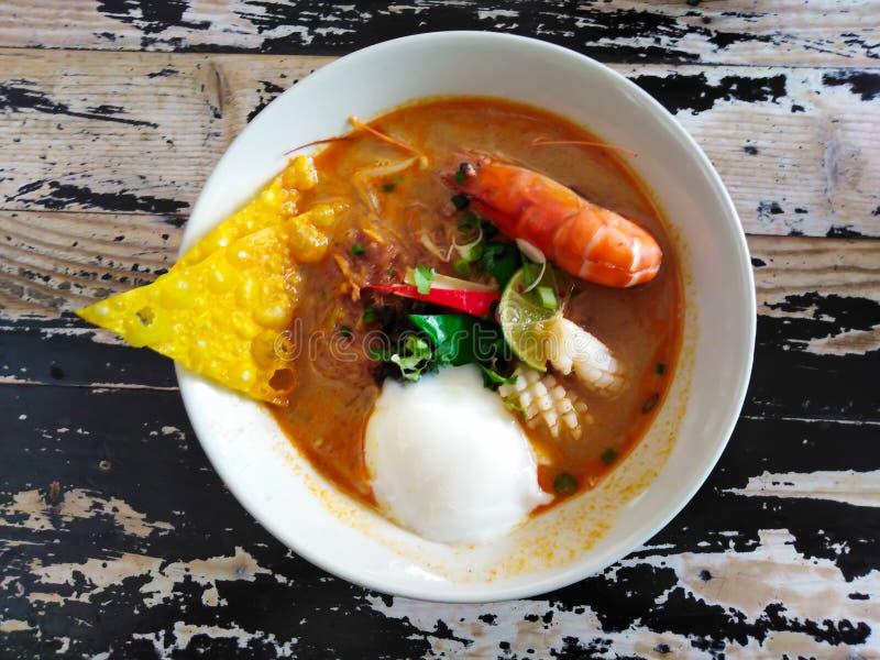 Tom Yum Spicy Soup Noodle fotografia stock libera da diritti