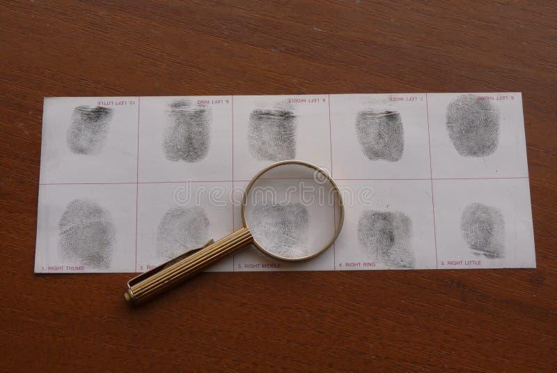 Toma as impressões digitais o exame imagem de stock