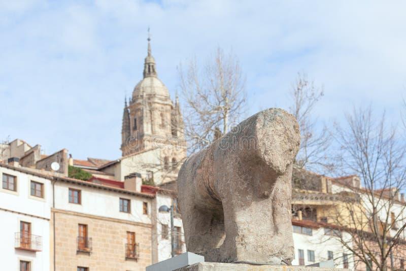 Toma de la fotografía del puente romano en Salamanca imágenes de archivo libres de regalías