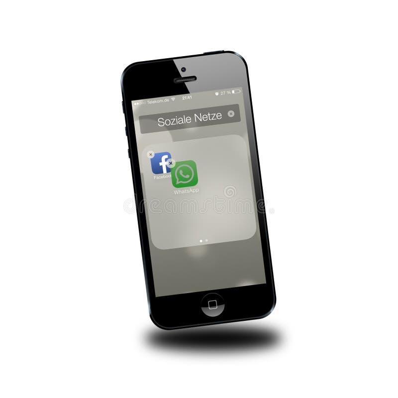 Toma de posesión de Whatsapp por el facebook stock de ilustración