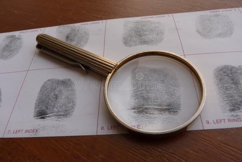 Toma las huellas dactilares el examen fotografía de archivo