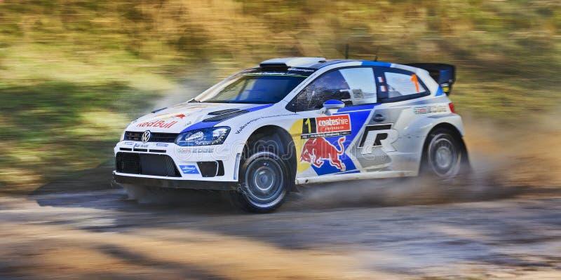 Toma panorámica mojada de Poto del día 3 de WRC foto de archivo libre de regalías