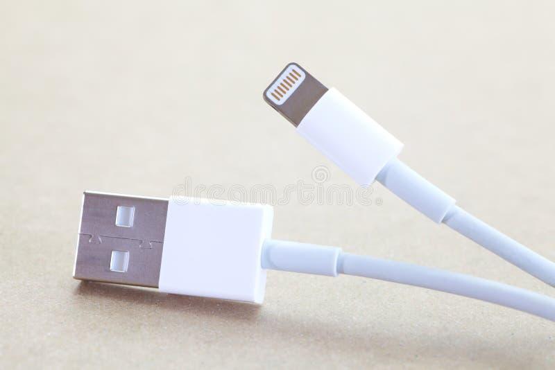 Tomada do cabo de USB imagens de stock