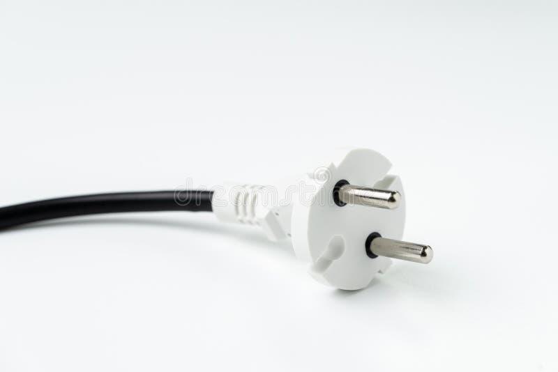A tomada do conector da eletricidade, poder consome, eco ou sustentabilidade foto de stock
