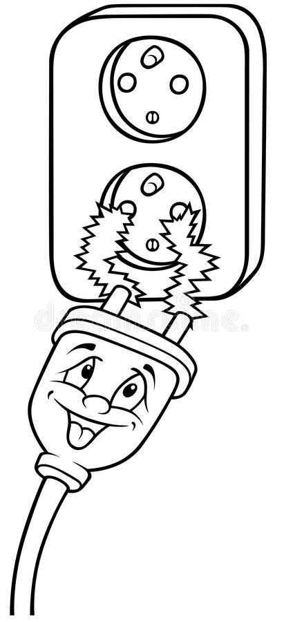 Tomada elétrica ilustração royalty free