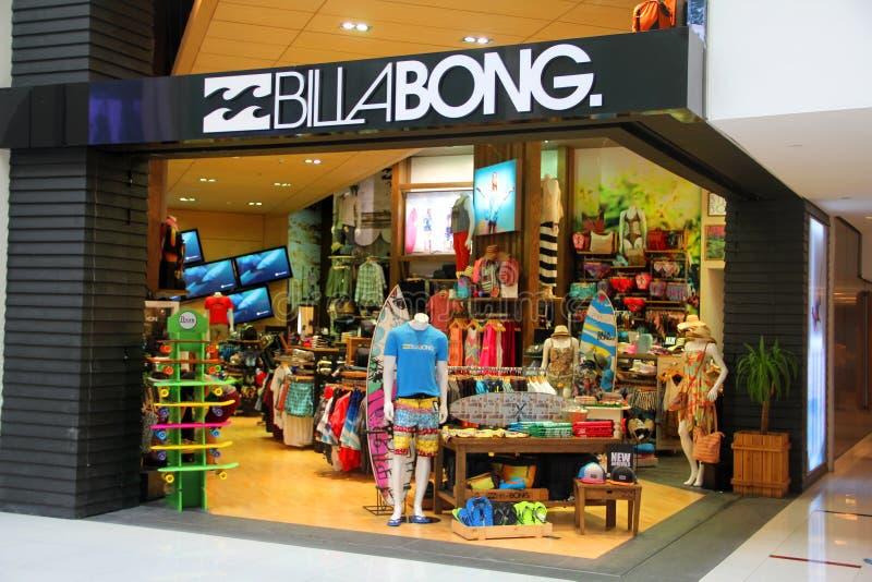 Tomada varejo de Billabong imagem de stock