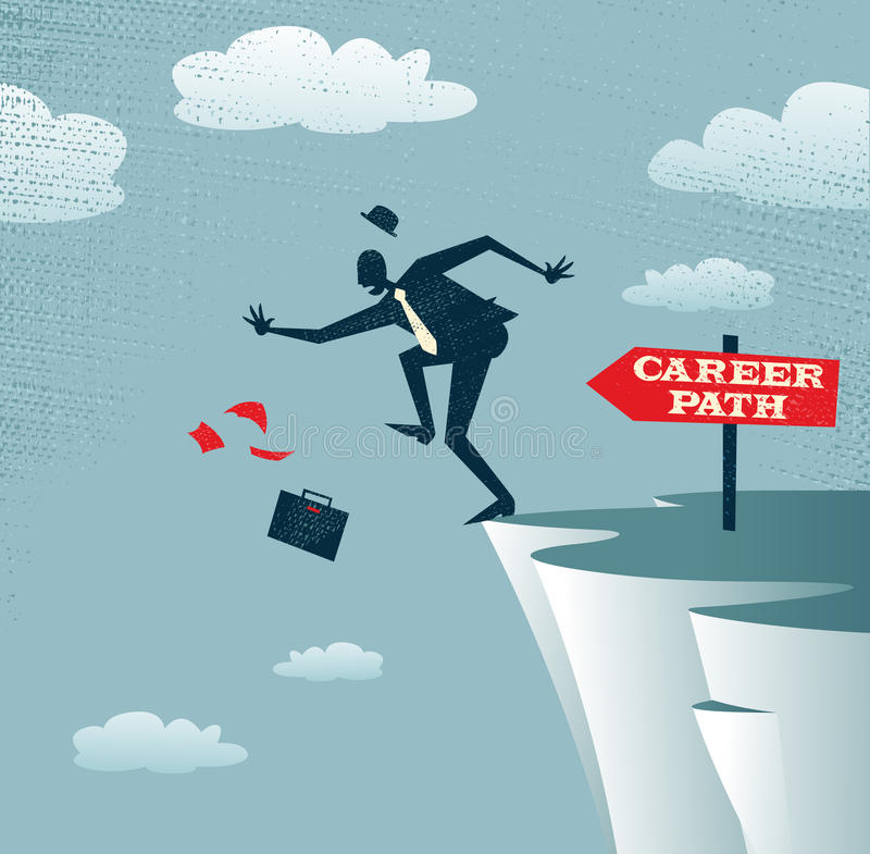 Tomadas abstratas da carreira de Businessmans ilustração stock