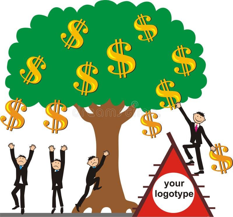 Tomando a colheita do dinheiro ilustração royalty free
