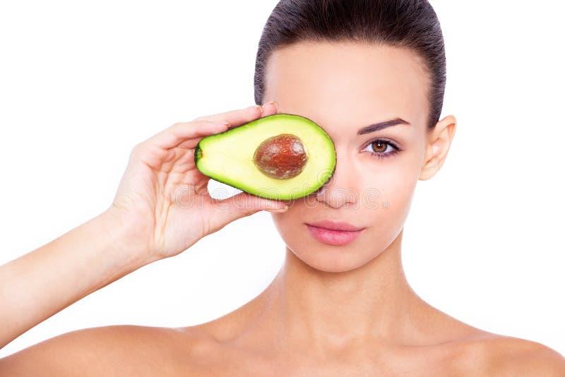 Tomando a cuidado de sua pele a maneira natural foto de stock