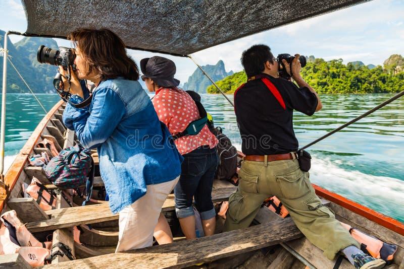 Tomando a foto do barco foto de stock