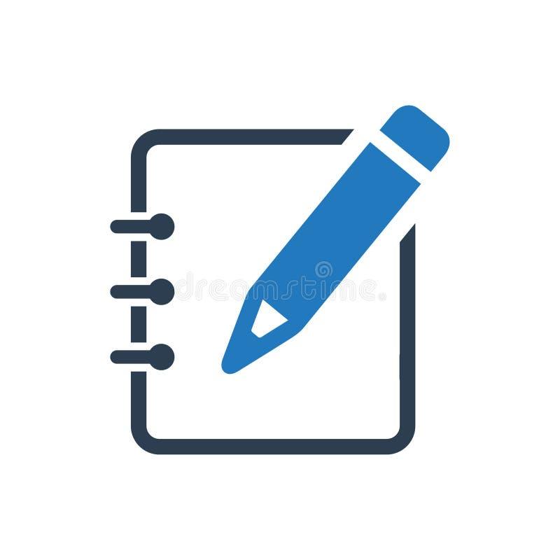 Tomando o ícone das notas ilustração do vetor