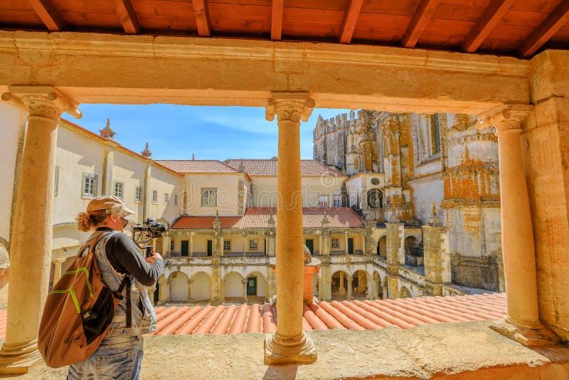 Tomar城堡的摄影师 库存照片