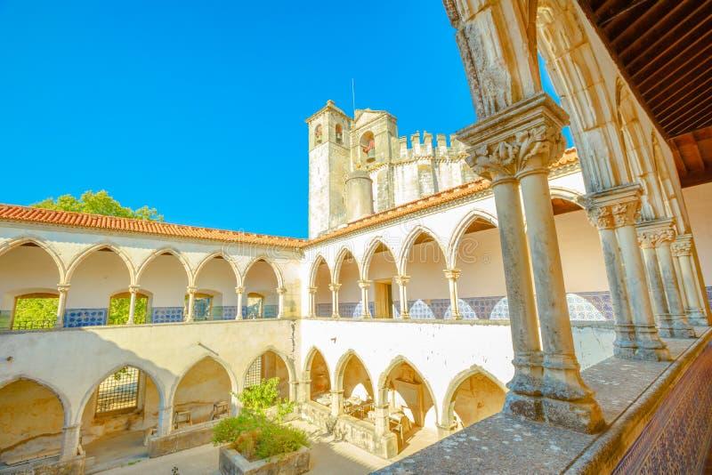 Tomar Castle Claustro royaltyfria foton