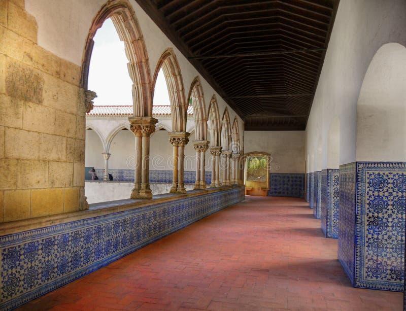 Tomar Castle Portugal arkivfoton