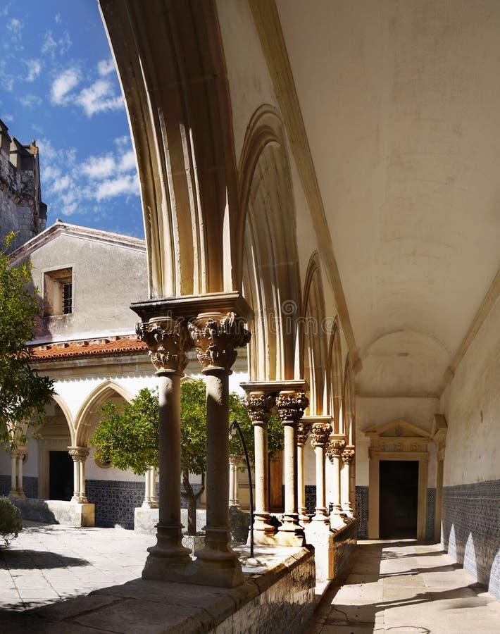 Tomar Castle Portugal fotografering för bildbyråer