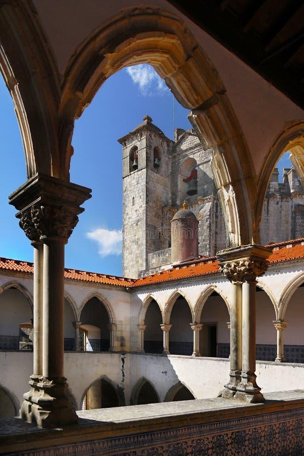 Tomar Castle Portugal royaltyfria bilder