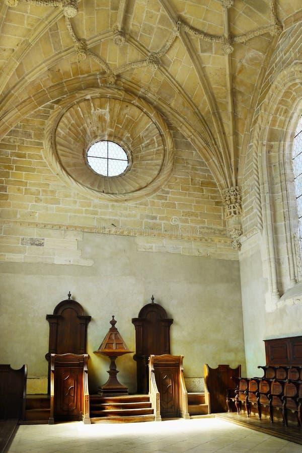 Tomar Castle Portugal arkivbilder