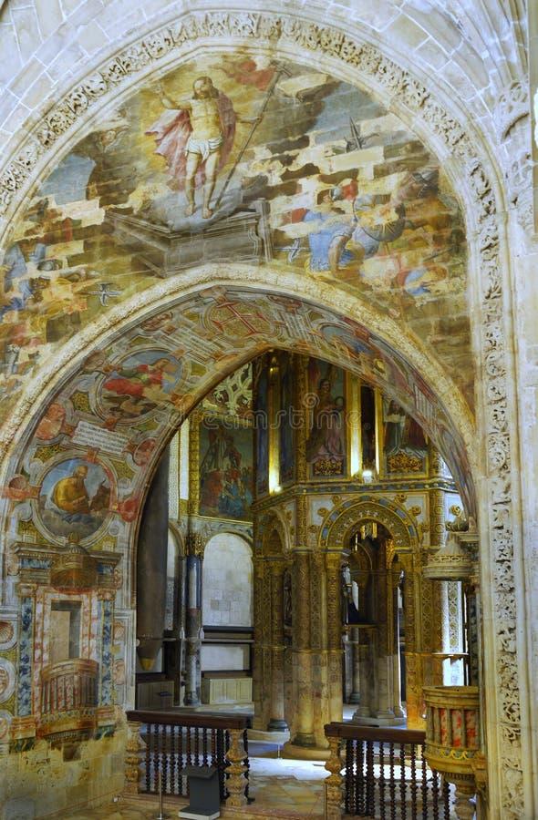 Tomar Castle Portugal royaltyfri foto