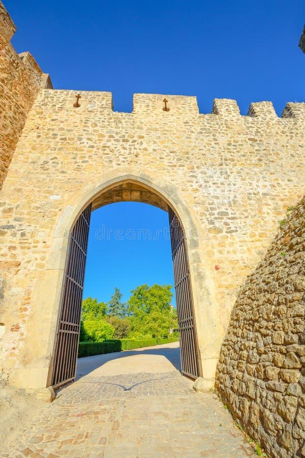 Tomar Castle Sun Door imagem de stock