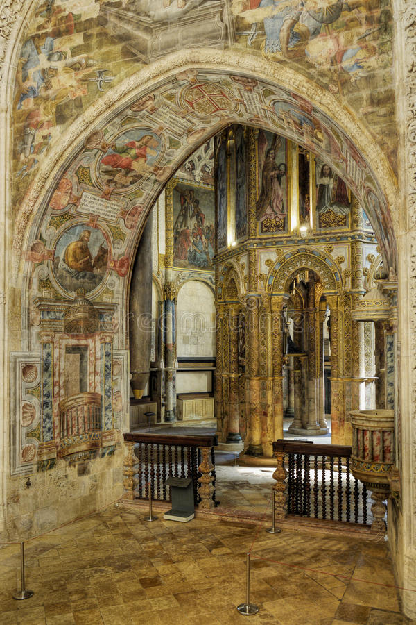 Tomar Church, Portugal imágenes de archivo libres de regalías