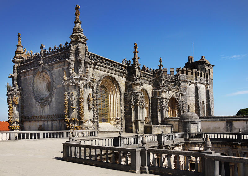 Tomar Church Portugal royaltyfri foto
