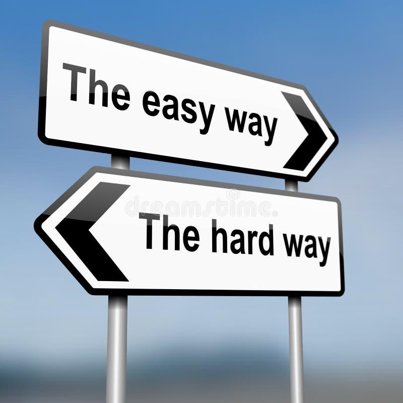 Tomar decisiones. ilustración del vector