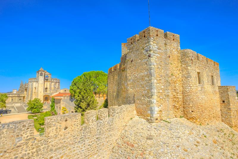 Tomar Fortress and Walls stock photography