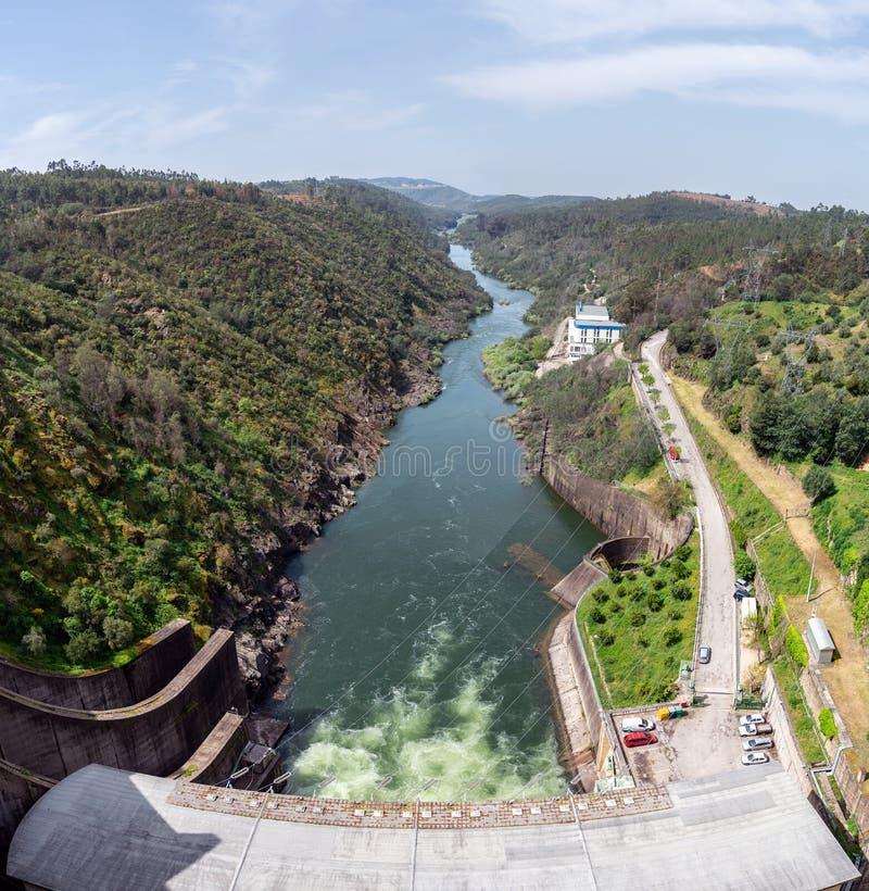 Castelo de Bode Dam in Tomar, Portugal royalty free stock photos