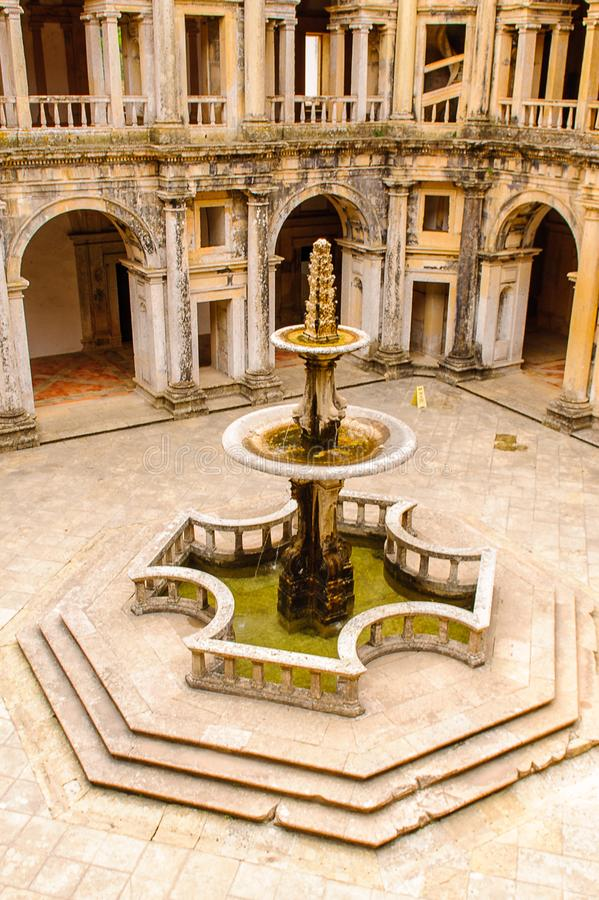 Convent of Christ in Tomar,Portugal royalty free stock photos