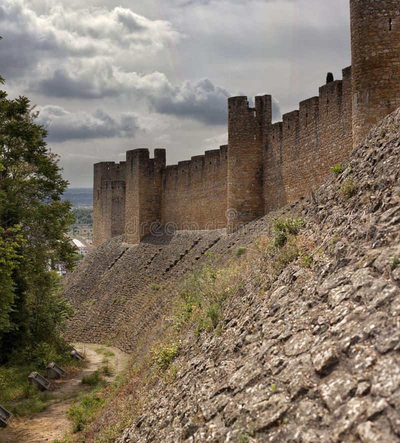 Tomar slott av riddarna Templar, Portugal fotografering för bildbyråer