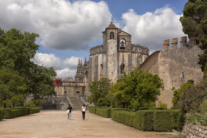 Tomar slott av riddarna Templar, Portugal royaltyfri fotografi