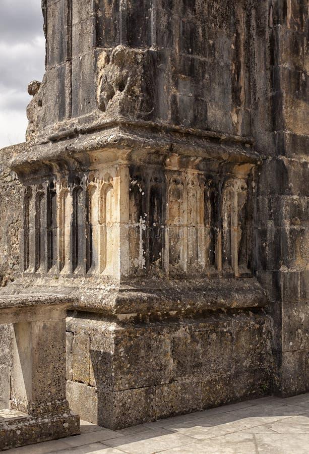 Tomar slott av riddarna Templar, Portugal arkivbilder